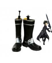 Sword Art Online Kirigaya Kazuto Cosplay Boots Black Shoes Custom Made