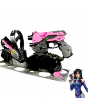 Overwatch D.Va DVA Headset Gun Cosplay Prop Accessories