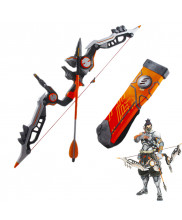 OW Overwatch Shimada Hanzo Cyber Ninja Bow Arrow and Quiver Cosplay Prop