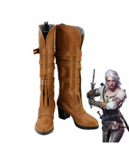 The Witcher 3 Wild Hunt Cirilla Ciri Brown Boots Cosplay Shoes