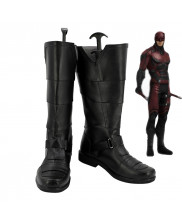 Daredevil Matt Murdock Black Shoes Cosplay Boots