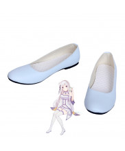 Re Zero Emilia White Shoes Cosplay Boots