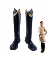 Disney Cinderella Prince Black Boots Cosplay Shoes Customized Size