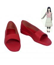 Naruto Hyuga Hinata Red Cosplay Shoes Customized Size