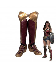 Wonder Woman Diana Prince Red Boots Cosplay Shoes Customized Size