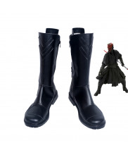 Star Wars Darth Maul Black Boots Cosplay Shoes Customized Size