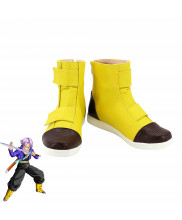 Dragon Ball Z Trunks Torankusu Yellow Shoes Cosplay Boots