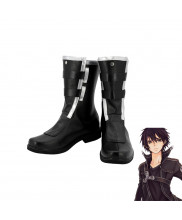 SAO Sword Art Online Ⅱ Kirigaya Kazuto Kirito Black Boots Cosplay Shoes