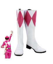 Power Rangers Kimberly Hart Pink Ranger Boots Cosplay Shoes