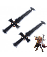 Guilty Gear Xrd Sign Leo Whitefang Twin Greatswords Cosplay Props