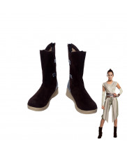 Star Wars Rey Brown Boots Cosplay Shoes