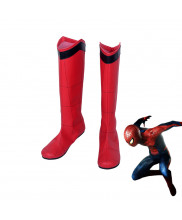 Spider Man Homecoming Peter Parker Red Boots Cosplay Shoes
