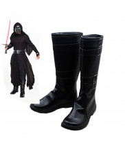 Star Wars 7 The Force Awakens Dark Jedi Kylo Ren Black Boots Cosplay Shoes