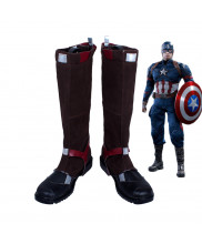 Captain America Civil War Steve Rogers Battleframe Boots Cosplay Shoes Custom Made