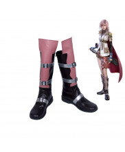Final Fantasy 13 Lightning Cosplay Boots Shoes Custom Made