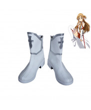 Sword Art Online Yuuki Asuna Cosplay Boots Shoes Customized Size