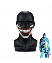 American Horror Story Half Face Scary Mask Twisty The Clown Mouth Cosplay Prop