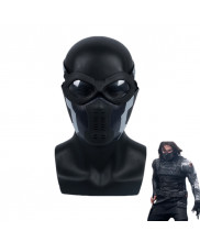 Avengers Infinity War Winter Soldier Bucky Barnes Mask with Goggles Cosplay Helmet Prop
