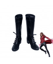 Captain America Civil War Scarlet Witch Wanda Maximoff Boots Cosplay Shoes