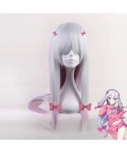 Eromanga Sensei Izumi Sagiri Long Straight Smoke Purple Cosplay Wig