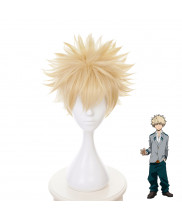 My Hero Academia Bakugou Katsuki Short Light Gold Cosplay Wig