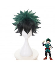 My Hero Academia Izuku Midoriya Short Green Black Cosplay Wig