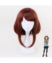 My Hero Academia OCHACO URARAKA Short Maroon BOBO Cosplay Wig