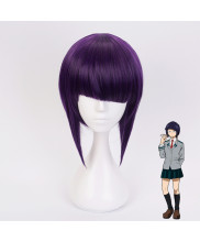 My Hero Academia Jirou Kyouka Short Dark Purple Cosplay Wig