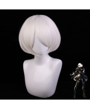 NieR Automata YoRHa No.2 Type B Short Light White Cosplay Wig
