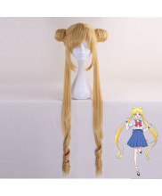 Sailor Moon Tsukino Usagi Long Golden Cosplay Wig