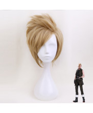 Final Fantasy XV Prompto Argentum Short Curly Golden Cosplay Wig