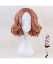 Persona 5 Haru Okumura Short Mixed Orange Pink Cosplay Wig