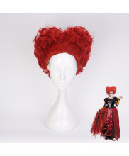 Alice Through the Looking Glass Red Queen Short Red Cosplay Wig