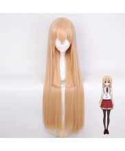 Himouto Umaru chan Doma Umaru Long Straight Milk Orange Cosplay Wig