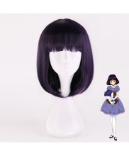 Sailor Moon Tomoe Hotaru Short Purple Black Cosplay Wig