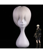 NieR Automata YoRHa No.9 Type S Short Light White Cosplay Wig