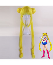 Sailor Moon Usagi Tsukino Long Lemon Yellow Cosplay Wig