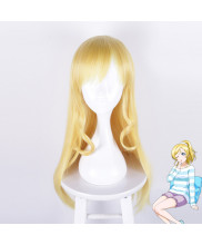 Love Live Ayase Eli Long Light Gold Cosplay Wig