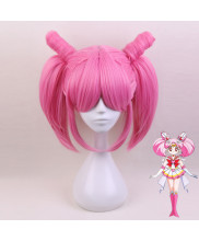 Sailor Moon ChibiUsa Short Rosy Mauve Cosplay Wig