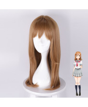 Love Live Sunshine Kunikida Hanamaru Long Straight Brown Cosplay Wig