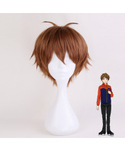 YURI on ICE Ji Guang Hong Short Brown Cosplay Wig