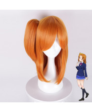Love Live Kosaka Honoka Short Straight Orange Cosplay Wig