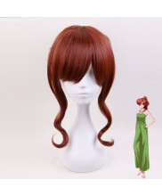 Sailor Moon Kino Makoto Short Curly Brown Cosplay Wig