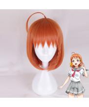 Love Live Sunshine Takami Chika Short Straight Orange Cosplay Wig