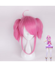 League of Legends Luxanna Crownguard Short Pink Cosplay Wig