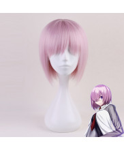 Fate Grand Order Demi Servant Mash Kyrielight Short Straight Pink Cosplay Wig