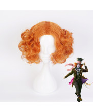 Alice Through the Looking Glass Mad Hatter Tarrant Hightopp Short Curly Orange Cosplay Wig
