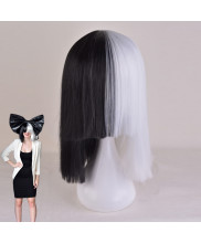 Sia Furler Short Straight Bob Party Wig Two Color