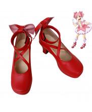 Puella Magi Madoka Magica Kaname Madoka Red Cosplay Boots Shoes