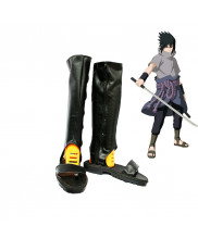 Naruto Uchiha Sasuke Cosplay Boots Black Shoes Custom Made